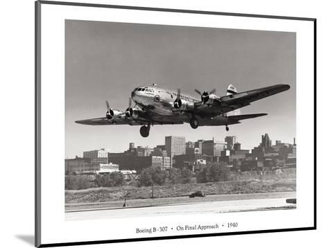 Boeing B-307 on Final Approach, 1940--Mounted Giclee Print