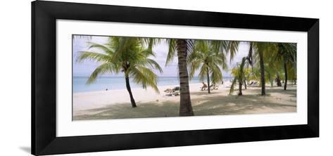 Sunning Tourists on 7-Mile Beach, Negril, Jamaica--Framed Art Print