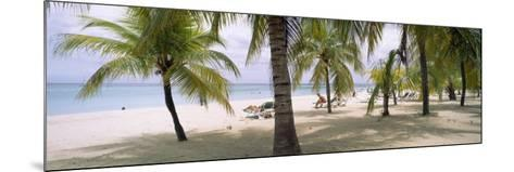 Sunning Tourists on 7-Mile Beach, Negril, Jamaica--Mounted Photographic Print