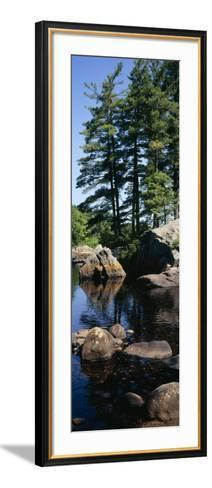 View of Rocks in a River, Moose River, Adirondack Mountains, New York State, USA--Framed Art Print