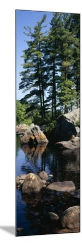 View of Rocks in a River, Moose River, Adirondack Mountains, New York State, USA--Mounted Photographic Print