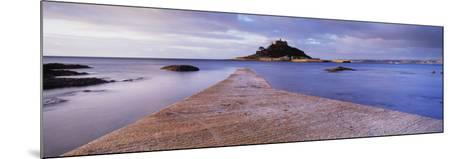 Jetty over the Sea, St. Michael's Mount, Marazion, Cornwall, England--Mounted Photographic Print