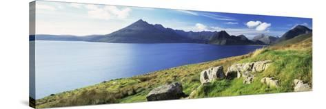 Rocks on the Hillside, Elgol, Loch Scavaig, View of Cuillins Hills, Isle of Skye, Scotland--Stretched Canvas Print