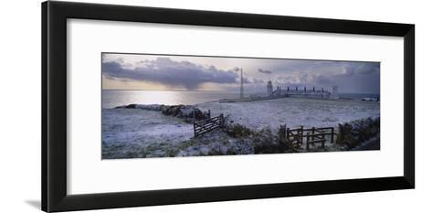 Lighthouse at the Coast, Lizard Lighthouse, Lizard Point, Cornwall, England--Framed Art Print