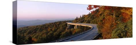 Curved Road over Mountains, Linn Cove Viaduct, Blue Ridge Parkway, North Carolina, USA--Stretched Canvas Print