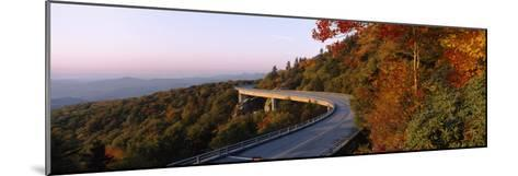 Curved Road over Mountains, Linn Cove Viaduct, Blue Ridge Parkway, North Carolina, USA--Mounted Photographic Print