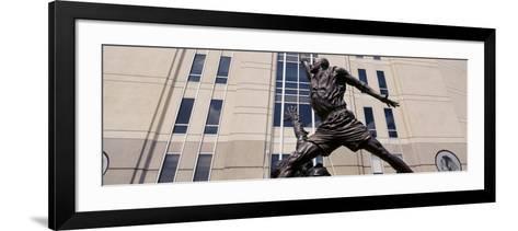 Michael Jordan Statue, United Center, Chicago, Illinois, USA--Framed Art Print