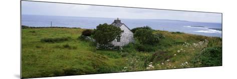 Coastal Landscape with White Stone House, Galway Bay, the Burren Region, Ireland--Mounted Photographic Print