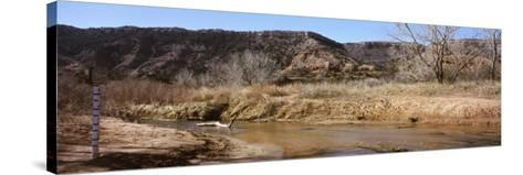 River Passing Through a Landscape, Palo Duro Canyon State Park, Texas, USA--Stretched Canvas Print