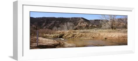 River Passing Through a Landscape, Palo Duro Canyon State Park, Texas, USA--Framed Art Print