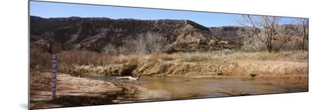 River Passing Through a Landscape, Palo Duro Canyon State Park, Texas, USA--Mounted Photographic Print