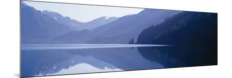 Reflection of a Mountain in a Lake, Lake Crescent, Olympic National Park, Washington State, USA--Mounted Photographic Print