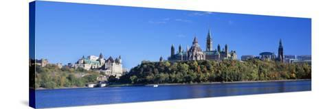 Government Building on a Hill, Parliament Building, Parliament Hill, Ottawa, Ontario, Canada--Stretched Canvas Print