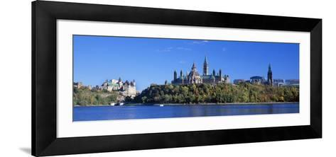 Government Building on a Hill, Parliament Building, Parliament Hill, Ottawa, Ontario, Canada--Framed Art Print