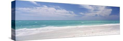 Clouds over the Sea, Lido Beach, St. Armands Key, Gulf of Mexico, Florida, USA--Stretched Canvas Print