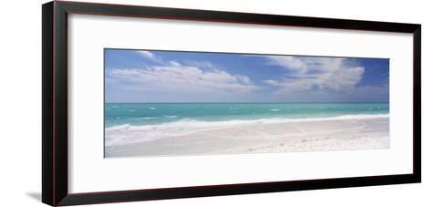 Clouds over the Sea, Lido Beach, St. Armands Key, Gulf of Mexico, Florida, USA--Framed Art Print