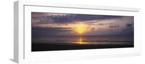 Sunrise over the Ocean, Jekyll Island, Georgia, USA--Framed Art Print