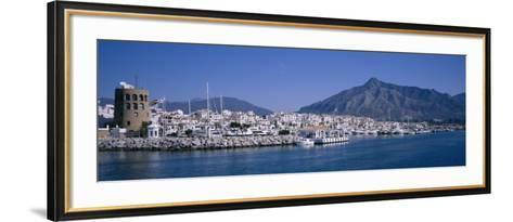 Boats at a Harbor, Puerto Banus, Marbella, Costa Del Sol, Andalusia, Spain--Framed Art Print