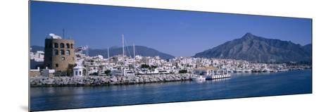 Boats at a Harbor, Puerto Banus, Marbella, Costa Del Sol, Andalusia, Spain--Mounted Photographic Print