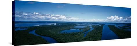 Clouds over a River, Amazon River, Anavilhanas Archipelago, Rio Negro, Brazil--Stretched Canvas Print