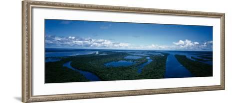 Clouds over a River, Amazon River, Anavilhanas Archipelago, Rio Negro, Brazil--Framed Art Print