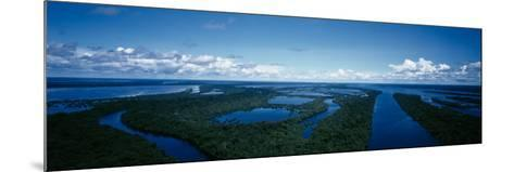 Clouds over a River, Amazon River, Anavilhanas Archipelago, Rio Negro, Brazil--Mounted Photographic Print