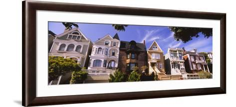 View of Houses in a Row, Presidio Heights, San Francisco, California, USA--Framed Art Print