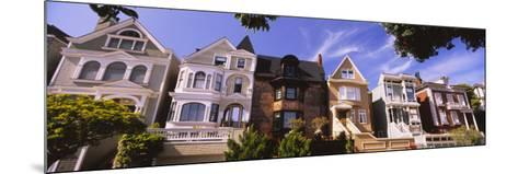 View of Houses in a Row, Presidio Heights, San Francisco, California, USA--Mounted Photographic Print