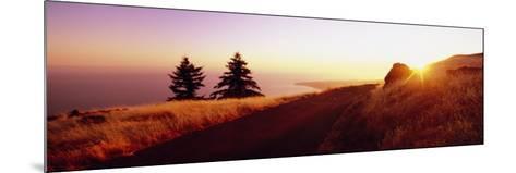 Sunset over the Mountain, Mt Tamalpais, Marin County, California, USA--Mounted Photographic Print
