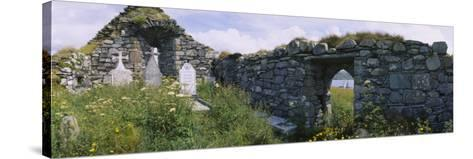 Old Ruins of a Church, County Kerry, Munster, Republic of Ireland--Stretched Canvas Print