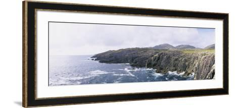 Cliffs at the Coast, County Kerry, Munster, Republic of Ireland--Framed Art Print