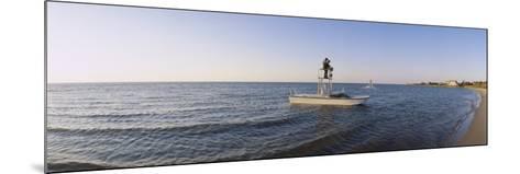 Fishermen Sitting on a Fishing Boat, Ocracoke Island, Hyde County, North Carolina, USA--Mounted Photographic Print