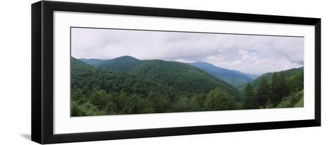 Clouds over Mountains, Blue Ridge Mountains, Asheville, Buncombe County, North Carolina, USA--Framed Art Print