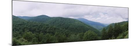 Clouds over Mountains, Blue Ridge Mountains, Asheville, Buncombe County, North Carolina, USA--Mounted Photographic Print