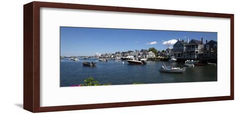 Boats at a Harbor, Nantucket, Massachusetts, USA--Framed Art Print