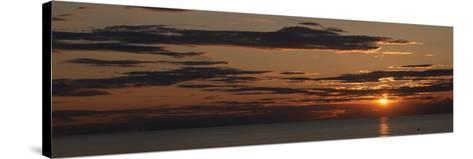 Sunset over the Ocean, Jetties Beach, Nantucket, Massachusetts, USA--Stretched Canvas Print