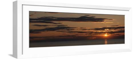 Sunset over the Ocean, Jetties Beach, Nantucket, Massachusetts, USA--Framed Art Print