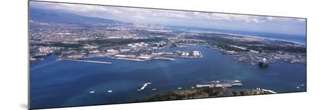 Aerial View of a Harbor, Pearl Harbor, Honolulu, Oahu, Hawaii, USA--Mounted Photographic Print