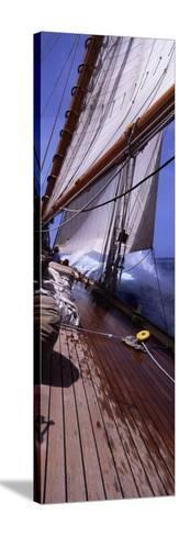 Sailboat in the Sea, Antigua, Antigua and Barbuda--Stretched Canvas Print