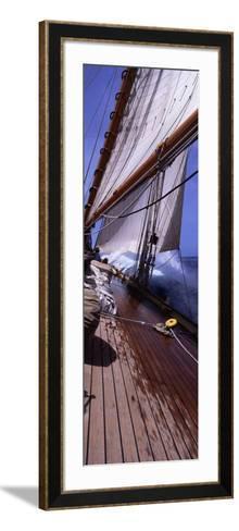Sailboat in the Sea, Antigua, Antigua and Barbuda--Framed Art Print
