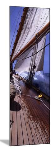 Sailboat in the Sea, Antigua, Antigua and Barbuda--Mounted Photographic Print