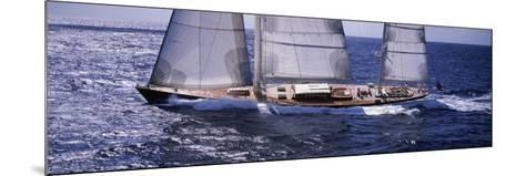 Sailboat in the Sea, Antigua--Mounted Photographic Print