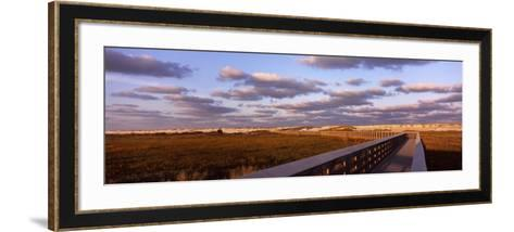 Boardwalk over Sand Dunes Leading Towards a Beach, Anastasia State Park, St. Augustine, Florida--Framed Art Print
