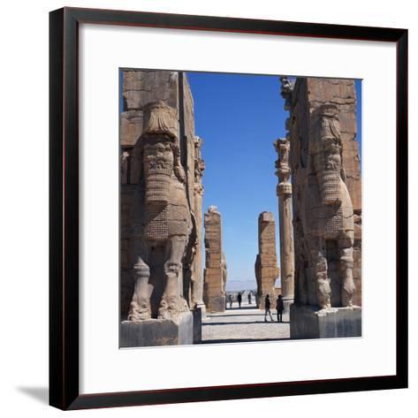 Porch of Xerxes, Persepolis, UNESCO World Heritage Site, Iran, Middle East-Robert Harding-Framed Art Print
