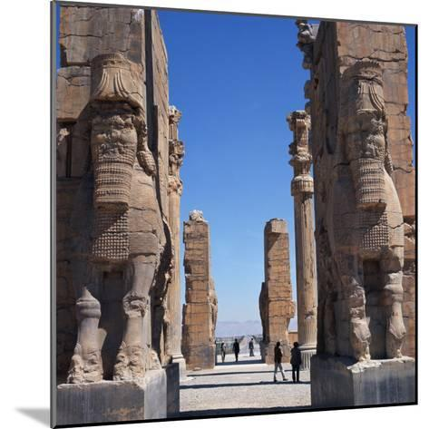 Porch of Xerxes, Persepolis, UNESCO World Heritage Site, Iran, Middle East-Robert Harding-Mounted Photographic Print