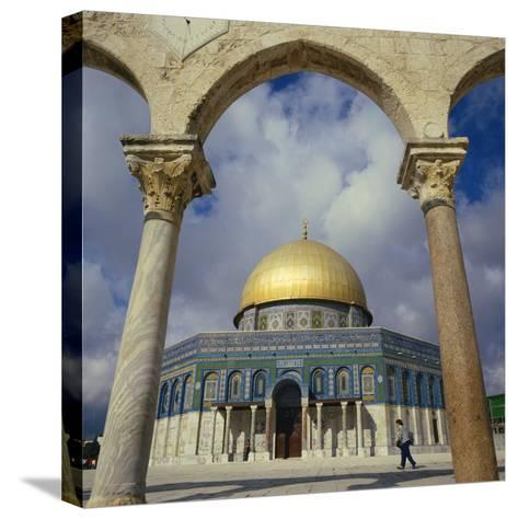 Dome of the Rock, Jerusalem, Israel, Middle East-Robert Harding-Stretched Canvas Print