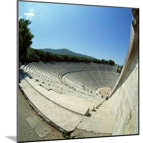 Theatre at the Archaeological Site of Epidavros, UNESCO World Heritage Site, Greece, Europe-Tony Gervis-Mounted Photographic Print
