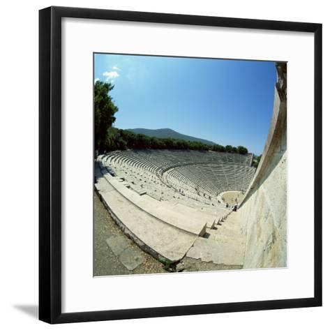 Theatre at the Archaeological Site of Epidavros, UNESCO World Heritage Site, Greece, Europe-Tony Gervis-Framed Art Print
