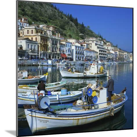 Fishing Boats at Port Town of Neapoli, Peloponnese, Greece, Europe-Tony Gervis-Mounted Photographic Print