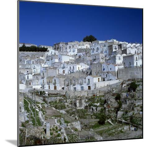 Houses of the Village of Monte Sant Angelo in Puglia, Italy, Europe-Tony Gervis-Mounted Photographic Print